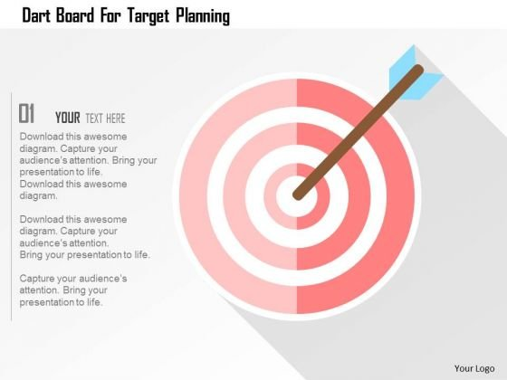 Business Diagram Dart Board For Target Planning Presentation Template