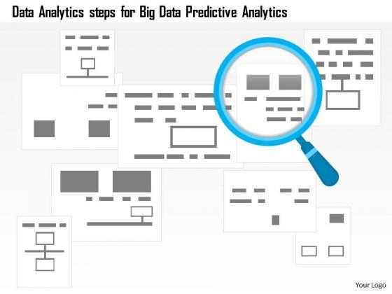 Business Diagram Data Analytics Steps For Big Data Predictive Analytics Ppt Slide
