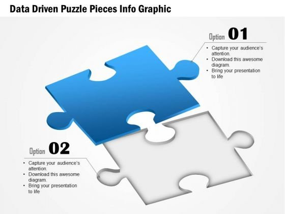 Business Diagram Data Driven Puzzle Pieces Info Graphic Presentation Template