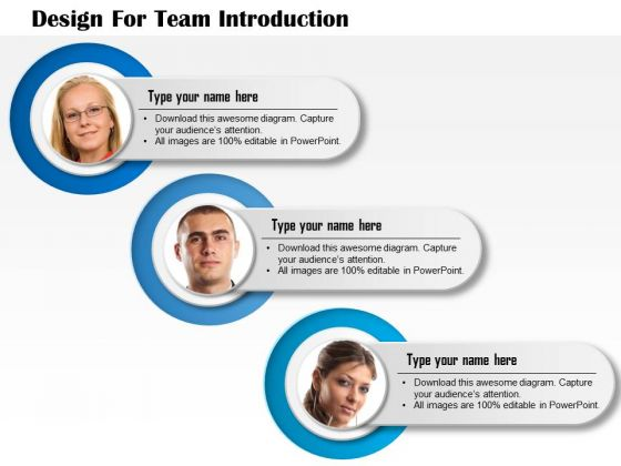 Business Diagram Design For Team Introduction Presentation Template