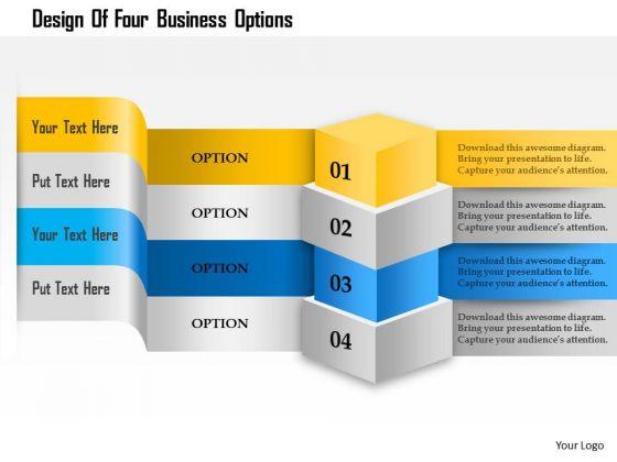 Business Diagram Design Of Four Business Options Presentation Template