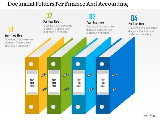 Business Diagram Document Folders For Finance And Accounting Presentation Template