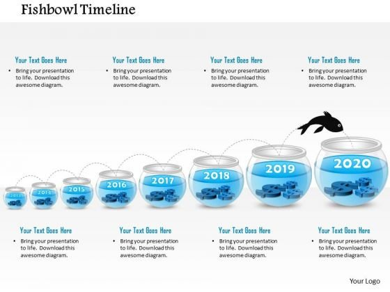 Business Diagram Eight Staged Fish Bowl Diagram Presentation Template