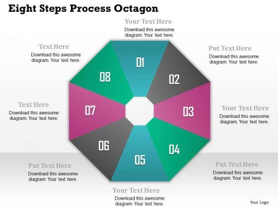 Business Diagram Eight Steps Process Octagon Presentation Template