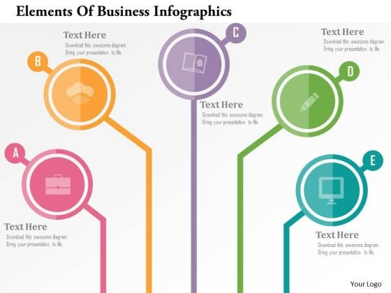 Business Diagram Elements Of Business Infographics Presentation Template