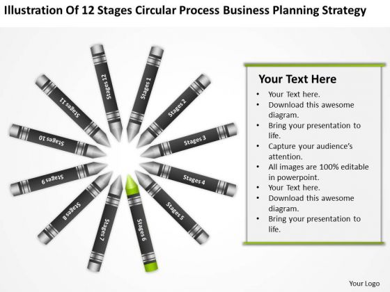 Business Diagram Examples Circular Process Planning Strategy PowerPoint Slide