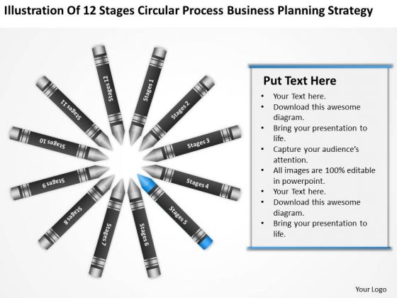 Business Diagram Examples Circular Process Planning Strategy Ppt PowerPoint Slides