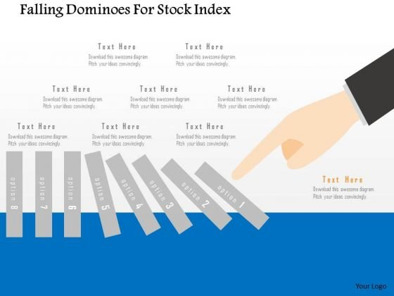 Business Diagram Falling Dominoes For Stock Index PowerPoint Templates
