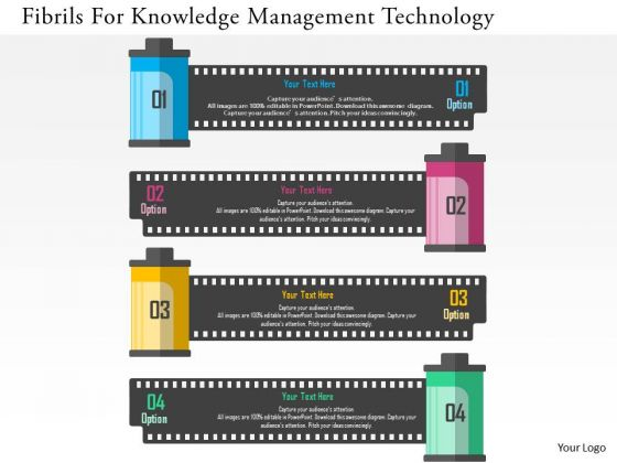 Business Diagram Filmrolls For Knowledge Management Technology Presentation Template
