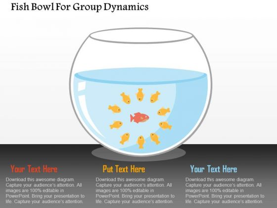 Business Diagram Fish Bowl For Group Dynamics Presentation Template