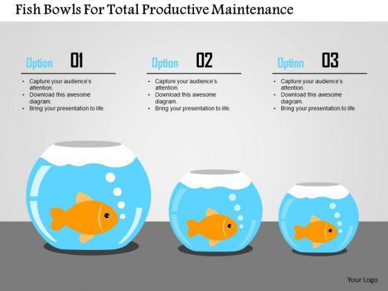Business Diagram Fish Bowls For Total Productive Maintenance Presentation Template