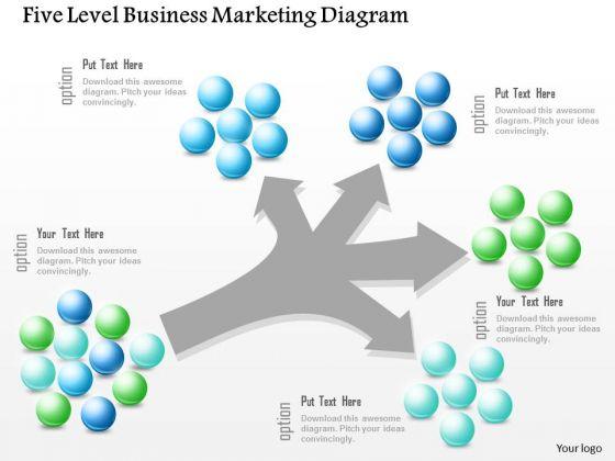 Business Diagram Five Level Business Marketing Diagram Presentation Template