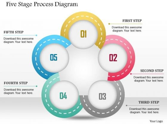 Business Diagram Five Stage Process Diagram Presentation Template ...