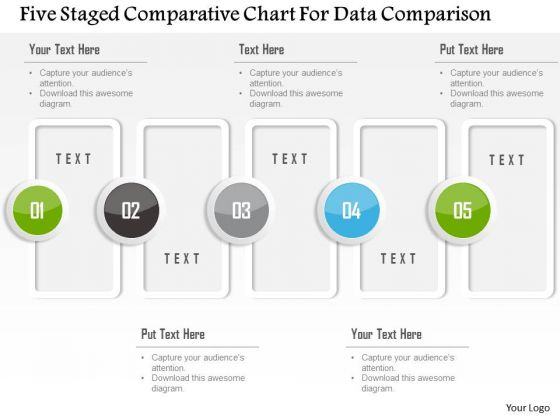 Business Diagram Five Staged Comparative Chart For Data Comparison Presentation Template