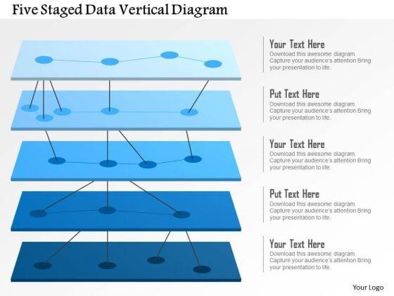 Business Diagram Five Staged Data Vertical Diagram Presentation Template