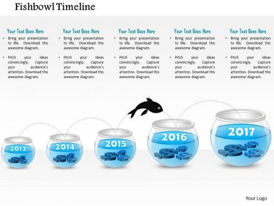 business diagram five staged fish bowl diagram presentation, Powerpoint templates