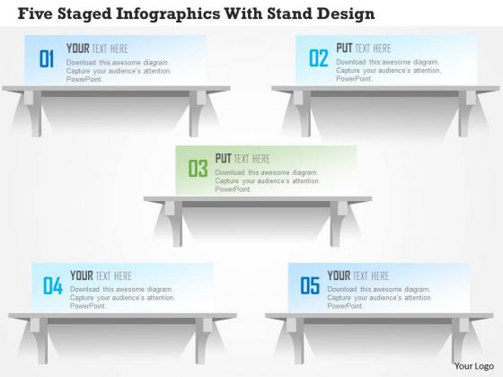 Business Diagram Five Staged Infographics With Stand Design PowerPoint Template