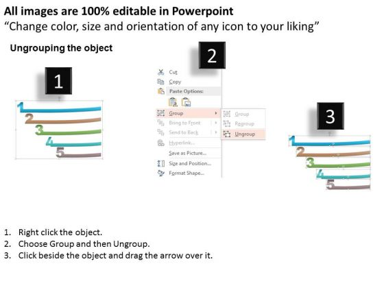 business_diagram_five_staged_numeric_text_boxes_for_data_representation_powerpoint_template_2