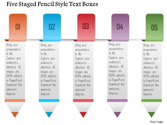business_diagram_five_staged_pencil_style_text_boxes_presentation_template_1