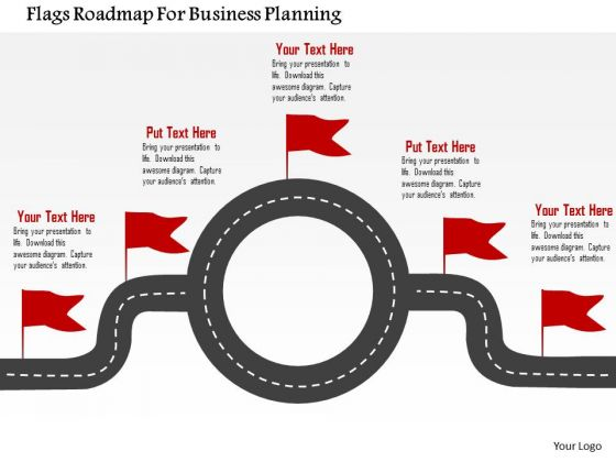 Business Diagram Flags Roadmap For Business Planning Presentation Template