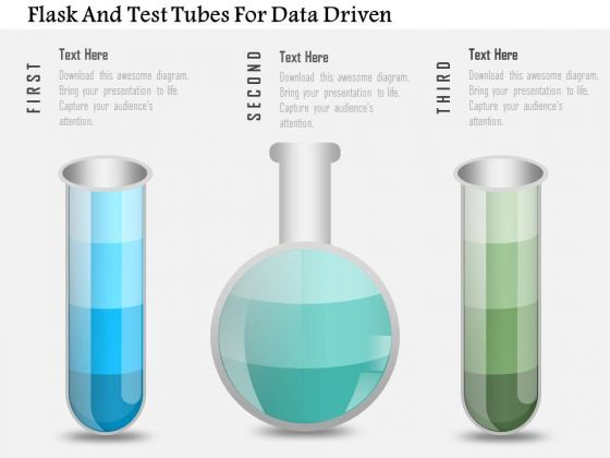Business Diagram Flask And Test Tubes For Data Driven PowerPoint Slide