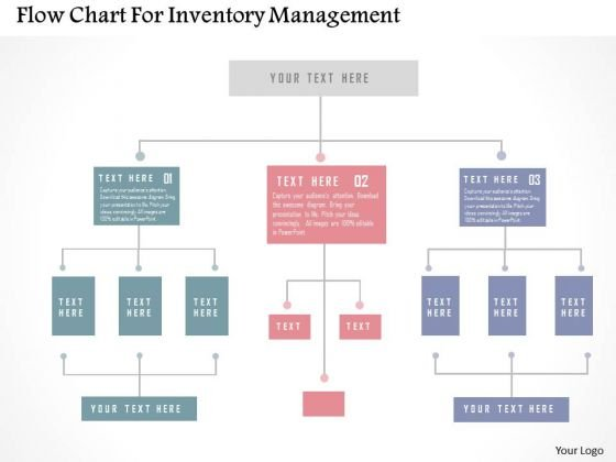 Business Diagram Flow Chart For Inventory Management PowerPoint Templates