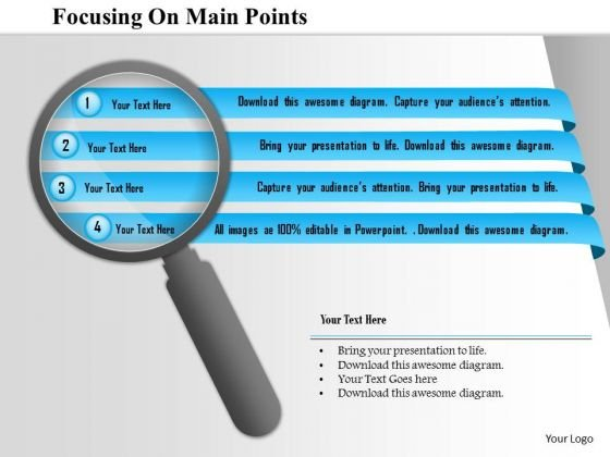 Business Diagram Focussing On Main Points PowerPoint Template