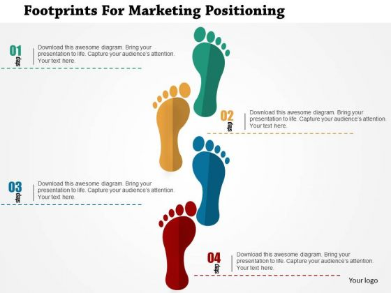 Business Diagram Footprints For Marketing Positioning Presentation Template