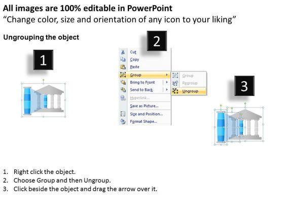 business_diagram_four_pillars_for_organizational_development_theory_presentation_template_2