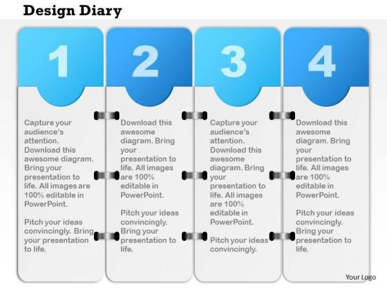 Business diagram four staged design diary for data flow presentation business diagram four staged design diary for data flow presentation template powerpoint templates cheaphphosting Gallery