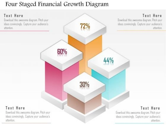 Business Diagram Four Staged Financial Growth Diagram Presentation Template