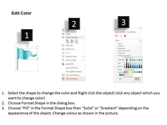 business_diagram_four_staged_flag_diagram_for_timeline_presentation_template_3