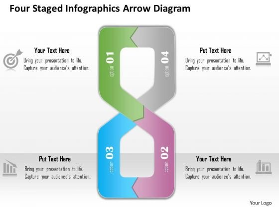 Business Diagram Four Staged Infographics Arrow Diagram Presentation Template