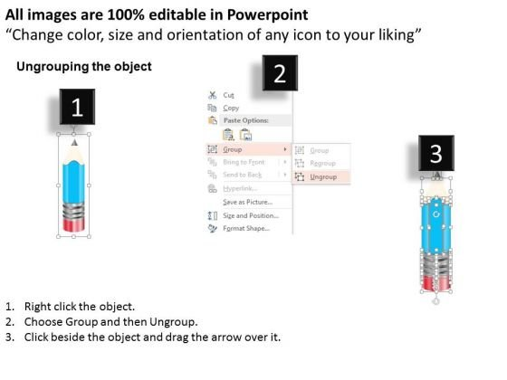 business_diagram_four_staged_linear_pencil_diagram_presentation_template_2