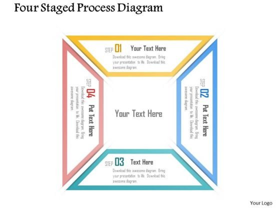 Business Diagram Four Staged Process Diagram Presentation Template