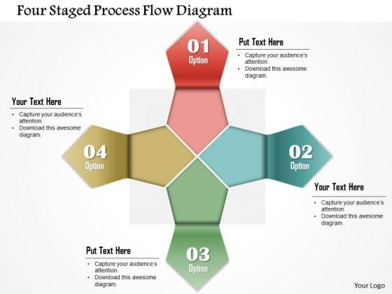 Business Diagram Four Staged Process Flow Diagram PowerPoint Template