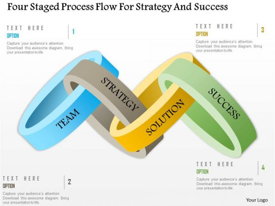 Business Diagram Four Staged Process Flow For Strategy And Success PowerPoint Template