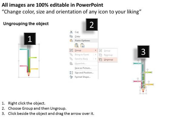 business_diagram_four_staged_text_boxes_on_pencil_diagram_presentation_template_2