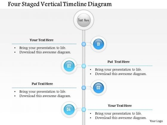 business diagram four staged vertical timeline diagram, Powerpoint templates