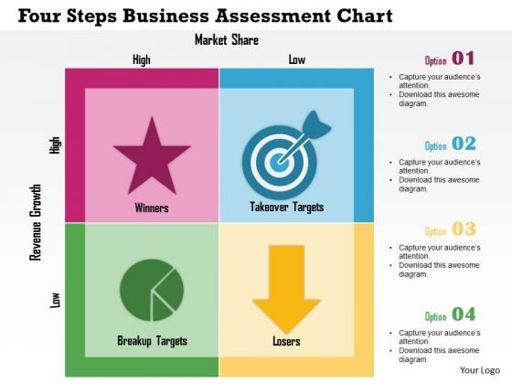 Business diagram four steps business assessment chart presentation business diagram four steps business assessment chart presentation template powerpoint templates cheaphphosting Images