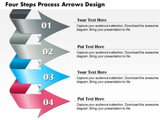 Business Diagram Four Steps Process Arrows Design Presentation Template