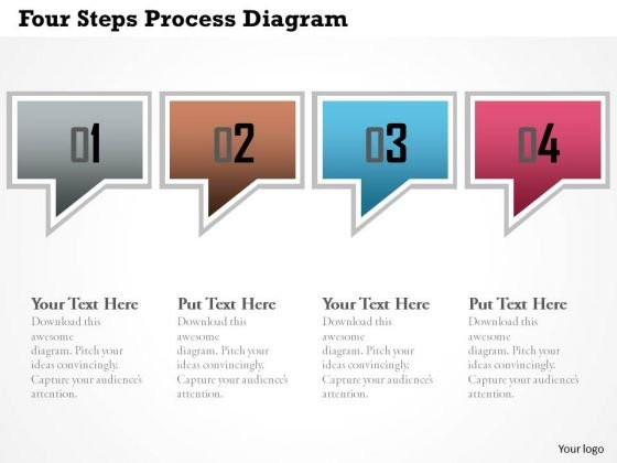 Business Diagram Four Steps Process Diagram Presentation Template