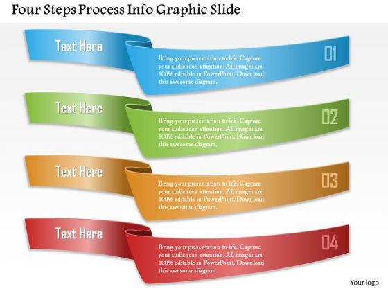 Business Diagram Four Steps Process Info Graphic Slide Presentation Template