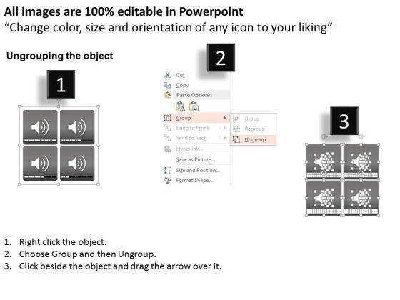 business_diagram_four_steps_volume_icons_presentation_template_2