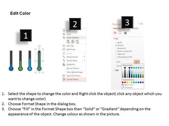 business_diagram_four_thermometer_for_entrepreneurship_statistics_presentation_template_3