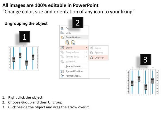 business_diagram_four_volume_buttons_for_voice_control_presentation_template_2