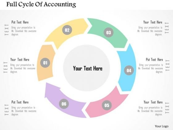 Business Diagram Full Cycle Of Accounting Presentation Template