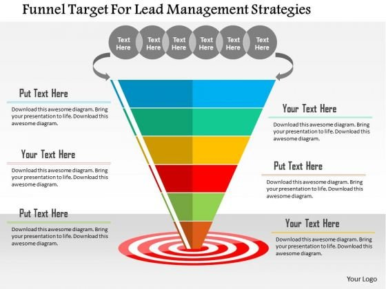 Business Diagram Funnel Target For Lead Management Strategies Presentation Template