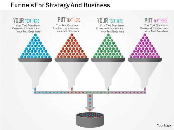 Business Diagram Funnels For Strategy And Business Presentation Template