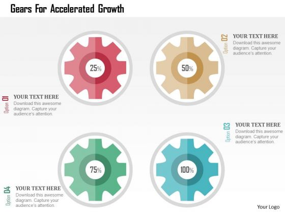 Business Diagram Gears For Accelerated Growth Presentation Template